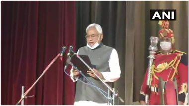 Nitish Kumar Takes Oath as Bihar CM: नीतीश कुमार ने 7वीं बार ली बिहार के मुख्यमंत्री पद की शपथ, तारकिशोर प्रसाद  और रेणु देवी को मिली डिप्टी सीएम की कमान