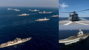 Malabar 2020: भारतीय नौसेना US, जापान और ऑस्ट्रेलिया की नेवी के साथ अरब सागर में दिखा रही दमखम, देखें युद्धाभ्यास का विडियो