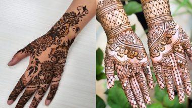 Karwa Chauth 2020 Mehndi Design: करवा चौथ के शुभ अवसर पर अपने हाथों की पर रचाएं सुंदर और आकर्षक मेहंदी, देखें लेटेस्ट डिजाइन्स (Watch Pics & Videos)