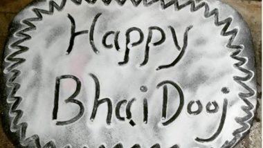 Bhai Dooj 2020 Rangoli Designs: भाई दूज पर रंगोली के इन मनमोहक डिजाइन्स से बढ़ाएं इस पर्व की शुभता (Watch Videos)