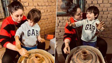 Kareena Kapoor के साथ बेटे Taimur Ali Khan ने बनाए मिटटी के बर्तन, मजेदार Video हुआ Viral