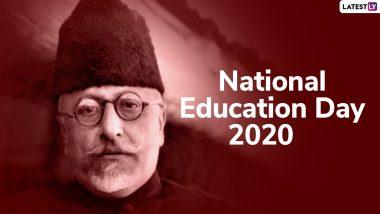 National Education Day 2020 Wishes: राष्ट्रीय शिक्षा दिवस पर इन शानदार WhatsApp Stickers, GIF Greetings, HD Images, Wallpapers के जरिए दें प्रियजनों को शुभकामनाएं