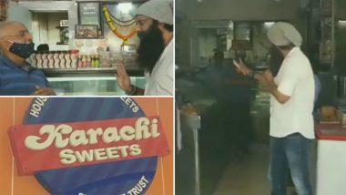 Mumbai: शिवसेना नेता नितिन नंदगांवकर ने 'कराची स्वीट्स' मालिक को दुकान का नाम बदलने को कहा- Video