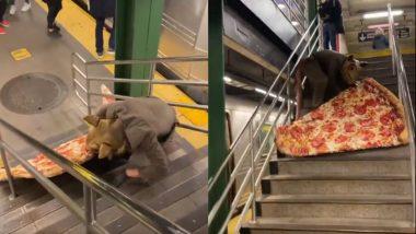 Pizza Rat Viral Video: चूहा बनकर पिज्जा स्लाइस को खींचने वाले एक कलाकार का वीडियो हुआ वायरल, आप  भी देखें