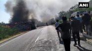 Bus Caught Fire in Rajasthan: दिल्ली-जयपुर हाइवे पर हाई वोल्टेज तार के संपर्क में आने से बस में लगी आग, दर्दनाक हादसे में 3 की मौत, कई घायल