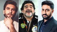 RIP Diego Maradona: मशहूर फुटबॉलरडिएगो माराडोना के निधन पर रणवीर सिंह और अभिषेक बच्चन ने सोशल मीडिया पर जताया शोक!