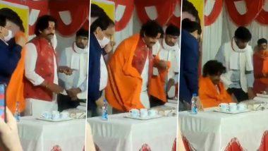 Ravi Kishan Falls from Stage:बीजेपी नेता रवि किशन छठ पूजा कार्यक्रम के दौरान स्टेज से गिरे, इंटरनेट पर Viral हुआ Video