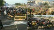 हरियाणा में किसानों ने तोड़े बैरिकेड, दागे गए आंसू गैस के गोले, पानी की बौछारें