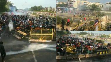 Delhi Chalo March: हरियाणा में किसानों ने तोड़े बैरिकेड, दागे गए आंसू गैस के गोले, पानी की बौछारें