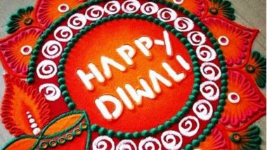 Diwali 2020 Rangoli Designs: Increase the auspiciousness of this festival with these adorable and latest rangoli patterns of 'Happy Diwali' (Watch Tutorial Videos)