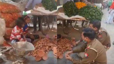 Diwali 2020: मेरठ में बच्चों के नहीं बिके दीये तो ड्यूटी पर तैनात पुलिसवालों ने दोगुनी कीमत पर खरीदे ढेर सारे दीये, देखें वीडियो