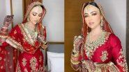 शादी के बाद सना खान ने शेयर किया अपना वलीमा लुक, तस्वीरें देख हो जाएंगे घायल