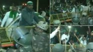 दिल्ली-उत्तर पदेश  बॉर्डर पर किसानों का उग्र प्रदर्शन देखते हुए सुरक्षा बढ़ाई गई