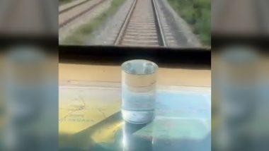 Smooth Journey: बेंगलुरु-मैसूरु हाई स्पीड ट्रेन जर्नी हुई स्मूथ, तेज रफ़्तार में भी ग्लास में भरा नहीं छलका, रेल मंत्री ने शेयर किया वीडियो