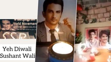 दिवाली के मौके पर सुशांत सिंह राजपूत के फैंस ने एक्टर को ऐसे किया याद, श्वेता सिंह कीर्ति ने वीडियो शेयर कर जताया आभार
