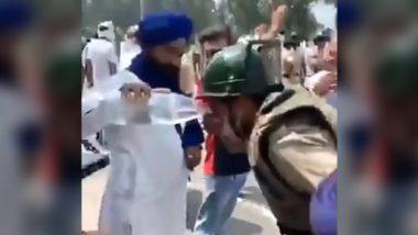 Farmers Protest: आंसू गैस और वाटर कैनन का सामना करने के बावजूद, विरोध कर रहे किसानों ने पुलिसवालों को पिलाया पानी, देखें इमोशनल वीडियो