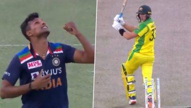 T Natarajan First Wicket Video: टी नटराजन ने मार्नस लाबुशैन को बोल्ड कर हासिल की अपनी पहली ODI सफलता, देखें वीडियो