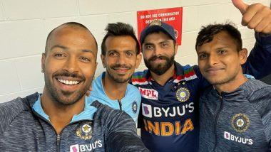 Ind vs Aus 1st T20 2020: हार्दिक पांड्या ने पहले T20 मुकाबले में मिली जीत के बाद इन स्टार खिलाड़ियों के साथ शेयर की तस्वीर