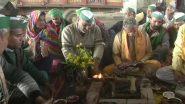 Farmers Protest: किसानों की आज सरकार से मीटिंग, गाजीपुर बॉर्डर पर किया हवन