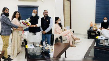 Tejas: कंगना रनौत ने रक्षा मंत्री राजनाथ सिंह से मुलाकात, फिल्म तेजस को लेकर की बातचीत