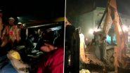 Road Accident In Kaushambi: यूपी के कौशांबी में भीषण सड़क हादसा, टायर फटने से बालू से लदा ट्रक स्कार्पियो पर पलटा, 8 लोगों की मौत