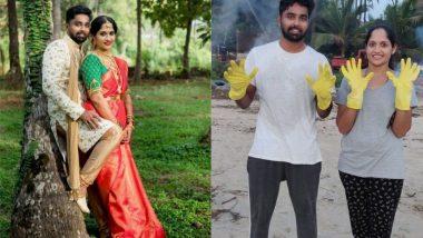 कर्नाटक: नव-विवाहित दंपत्ति ने बीच की सफाई करने के लिए अपने Honeymoon प्लान को किया कैंसिल, देखें Beach Clean Up की वायरल तस्वीरें