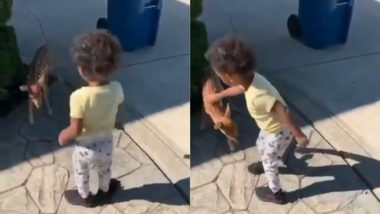 Viral Video: नन्हे हिरण के साथ खेलते बच्चे का वीडियो हुआ वायरल, जिसे देख आप भी कहेंगे So Cute