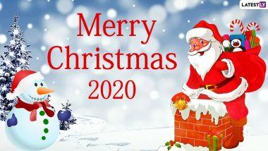 Merry Christmas 2020 Wishes: सैंटा क्लॉज के मनमोहक HD Images, Wallpapers, WhatsApp Stickers, GIF Greetings के जरिए अपनों को दें क्रिसमस की बधाई