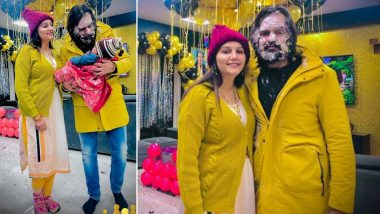 PHOTOS: Sapna Choudhary ने अपने बेटे संग मिलकर मनाया पति वीर साहू का जन्मदिन, घर में जमकर किया सेलिब्रेट