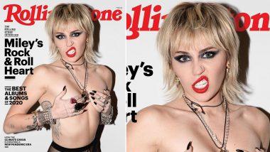 Miley Cyrus Goes Topless: अमेरिकी एक्ट्रेस माईली सायरस ने कराया टॉपलेस फोटोशूट, सुपर हॉट फोटो देखकर उड़ जाएंगे होश (See Hot Photo)