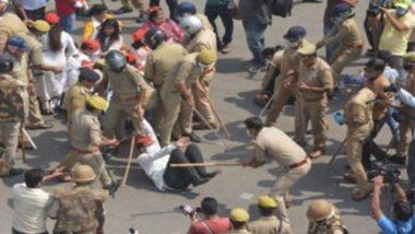 Farmers Protest: बिहार के पटना में कृषि कानून के विरोध में जाप का राजभवन मार्च, पुलिस ने लोगों पर भांजी लाठियां