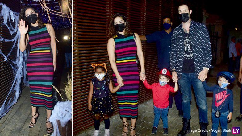 PHOTOS: सनी लियोनी पति डेनियल वेबर और अपने बच्चों के साथ रेस्टोरंट के बाहर हुई स्पॉट