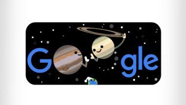 Celebrating Winter 2020 and The Great Conjuction! दो ग्रहों की शीतकालीन संक्रांति का गूगल ने बनाया डूडल, जानें इस खगोलीय घटना के बारे में