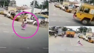 Shocking Video: बुजुर्ग महिला पर से गुजरी ट्रक, उसके बाद जो हुआ... देखें वायरल वीडियो