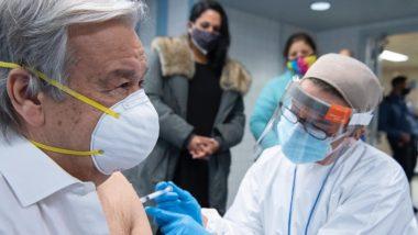 संयुक्त राष्ट्र प्रमुख एंटोनियो गुटेरेस ने लगवाया COVID-19 का टीका