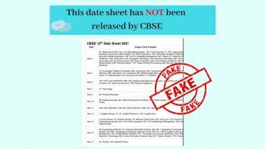 CBSE Board Exams 2021: सीबीएसई बोर्ड परीक्षाओं की झूठी डेटशीट सोशल मीडिया पर वायरल, PIB ने बताया सच