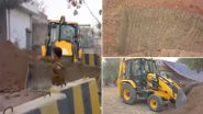 Farmers Protest: किसान आंदोलन के खिलाफ दिल्ली पुलिस हुई सख्त, सिंघू सीमा पर सड़क खोदने के लिए तैयार किया JCB मशीन, देखें वीडियो