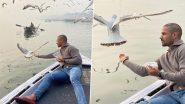 Shikhar Dhawan के पक्षियों को दाना खिलाने पर विवाद, प्रशासन ने काटा नाविक का चालान