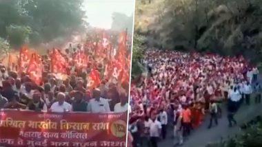 कृषि कानूनों के खिलाफ प्रदर्शन करने के लिए मुंबई आ रहा किसानों का जनसैलाब, देखें VIDEO