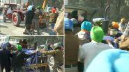 उत्तराखंड में किसानों और पुलिस के बीच हाथापाई