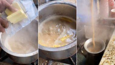 Butter Wali Chai! आगरा फूड स्टॉल की फेमस बटर वाली चाय का वीडियो वायरल, भड़के टी लवर्स, देखें ट्वीट्स