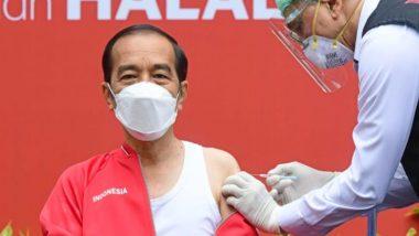 इंडोनेशिया के राष्ट्रपति जोको विडोडो ने COVID-19 वैक्सीन की दूसरी ली खुराक