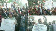 सिंघु बॉर्डर पर स्थानीय लोगों का किसान आंदोलन के खिलाफ प्रदर्शन