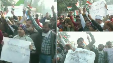 Farmers Protest: किसान आंदोलन के खिलाफ सिंघु बॉर्डर पर स्थानीय निवासियों का प्रदर्शन, हाइवे खाली करने की मांग की- VIDEO