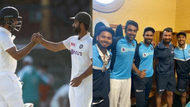 IND vs AUS 3rd Test 2021: ड्रा के बाद सिडनी के मैदान पर टीम इंडिया के खिलाड़ियों ने भरी हुंकार, देखें सीना चौड़ा कर देने वाली तस्वीरें