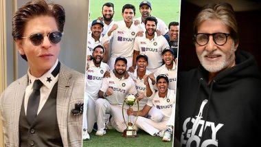 India Beats Australia: Shah Rukh Khah ने ट्वीट कर कहा- शांति से सो सकूंगा, Amitabh Bachchan ने लिखा- जातिसूचक टिप्पणी का बदला