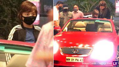 PHOTOS: Suhana Khan को एयरपोर्ट छोड़ने पहुंचे Shah Rukh Khan और AbRam Khan, मीडिया फोटोग्राफर्स से बचते दिखे किंग खान!