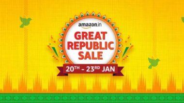 Amazon Great Republic Day Sale 2021: नए साल की पहली अमेजन इंडिया सेल 20 से 23 जनवरी तक, जानें किन चीजों पर मिलेगा आकर्षक डिस्काउंट