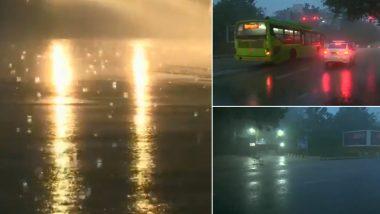 Delhi Rains: दिल्ली-एनसीआर में ठंड के बीच मौसम ने ली करवट, कुछ इलाकों में हो रही बारिश (Watch Video)