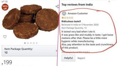 Shocking! अमेजन ग्राहक ने गोबर का उपला खाकर बताया स्वाद, Viral हुआ कस्टमर का रिव्यू